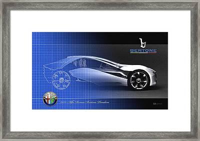 Alfa Romeo Bertone Pandion Concept Framed Print by Serge Averbukh
