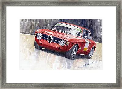 Alfa Romeo Giulie Sprint Gt 1966 Framed Print by Yuriy  Shevchuk