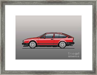 Alfa Romeo Gtv6 Red Framed Print by Monkey Crisis On Mars