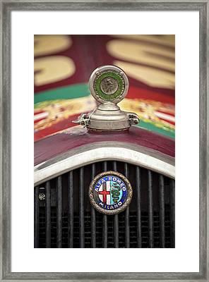 Alfa-romeo Hood Ornament Framed Print by Jill Reger