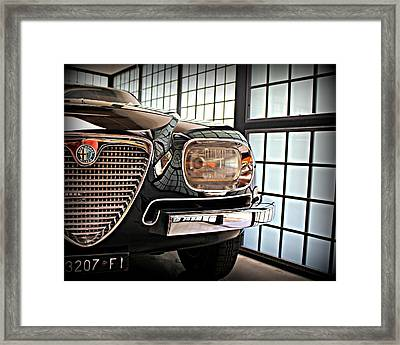 Alfa Romeo In Black Framed Print