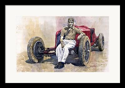Vintage Sports Cars Framed Prints