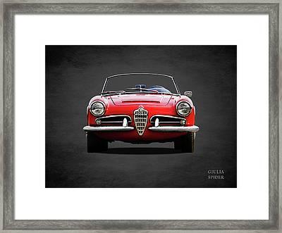 Alfa Romeo Spider Framed Print by Mark Rogan
