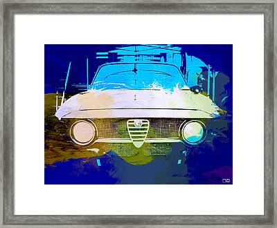 Alfa Romeo Watercolor Framed Print by Naxart Studio