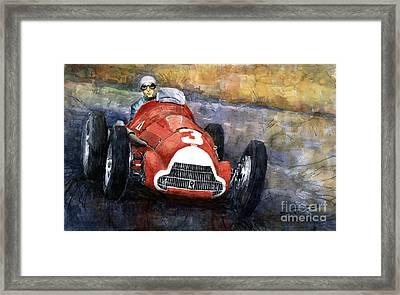 Alfa Romeo158 British Gp 1950 Luigi Fagioli Framed Print by Yuriy  Shevchuk