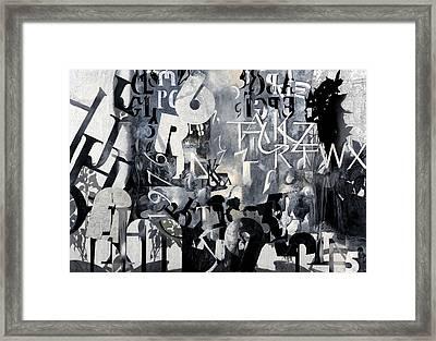 Alfabeto Bianco Nero Framed Print by Guido Borelli