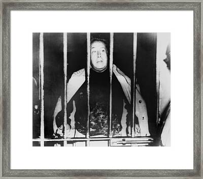 Alfaro Siqueiros 1896-1974, Peering Framed Print by Everett