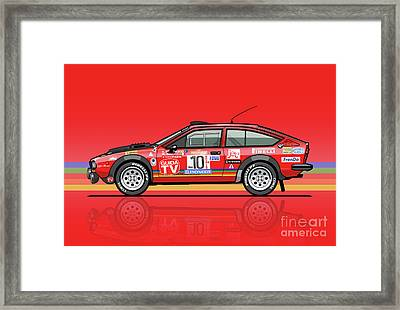 Alfetta Gtv Turbodelta Jolly Club Fia Group 4 1980 Sanremo Rallye Framed Print