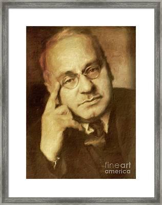 Alfred Adler, Psychotherapist By Mary Bassett Framed Print
