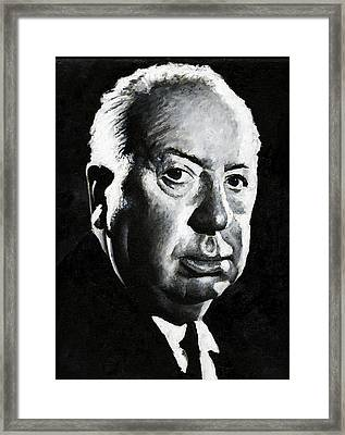 Alfred Hitchcock 1 Framed Print by Christian Klute