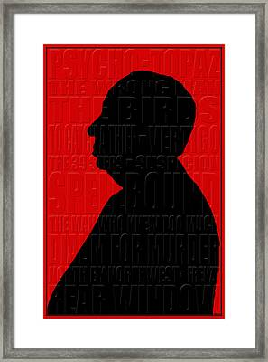 Alfred Hitchcock Framed Print by Andrew Fare