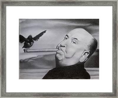 Alfred Hitchcock  Framed Print by Brandon Treadaway