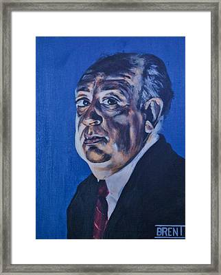 Alfred Hitchcock Framed Print by Brent Andrew Doty
