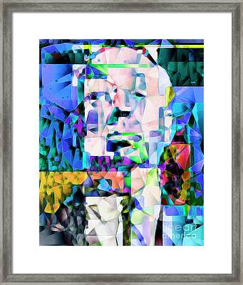 Alfred Hitchcock In Abstract Cubism 20170329ver Framed Print