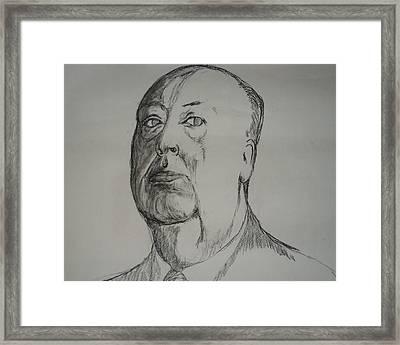Alfred Hitchcock Framed Print by John  Bichler