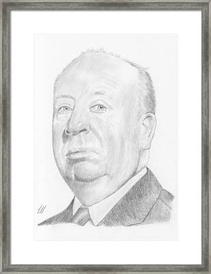 Alfred Hitchcock Framed Print by Keith Miller
