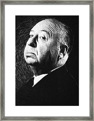 Alfred Hitchcock Framed Print by Taylan Apukovska