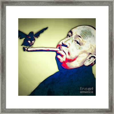 Alfred Hitchcock The Birds 20151218 Square Framed Print