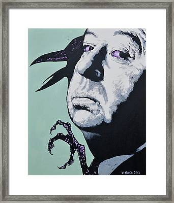 Alfred Hitchcock Framed Print by Victor Minca