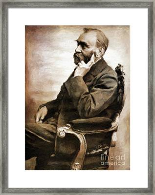Alfred Nobel, Scientist By Mary Bassett Framed Print