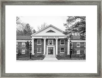 Alfred University Howell Hall Framed Print by University Icons
