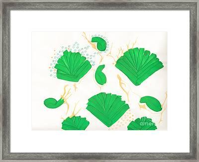 Algae Blooms Framed Print by Mary Mikawoz