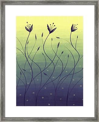 Algae Plants In Green Water Framed Print
