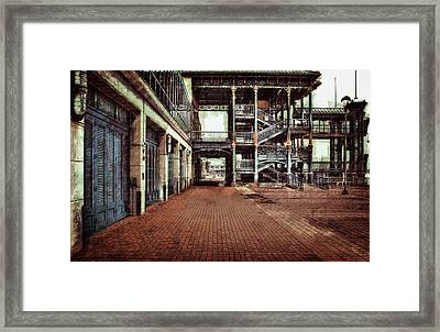 Algiers Ferry Dock Framed Print