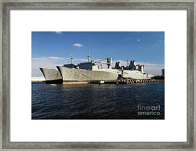 Algol Class Military Cargo Ships Framed Print by George Oze