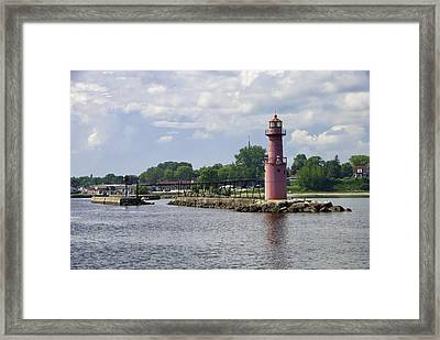 Algoma Pierhead Light Framed Print