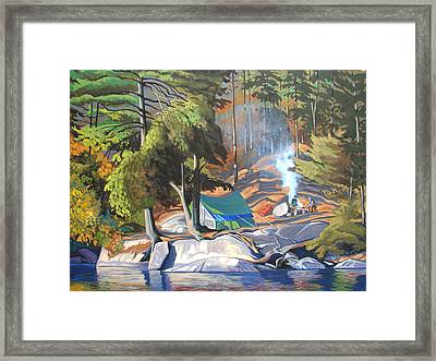 Algonquin Campsite Framed Print by Paul Gauthier
