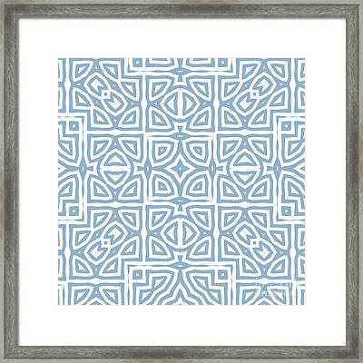 Alhambra Blue Framed Print by Mindy Sommers