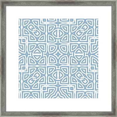Alhambra Blue Framed Print
