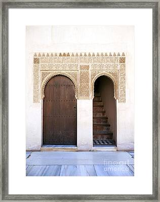 Alhambra Door And Stairs Framed Print