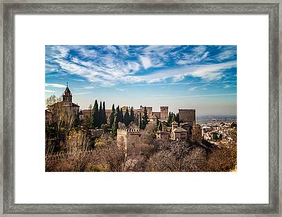Alhambra Over Granada Framed Print