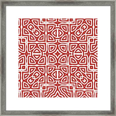 Alhambra Red Framed Print by Mindy Sommers