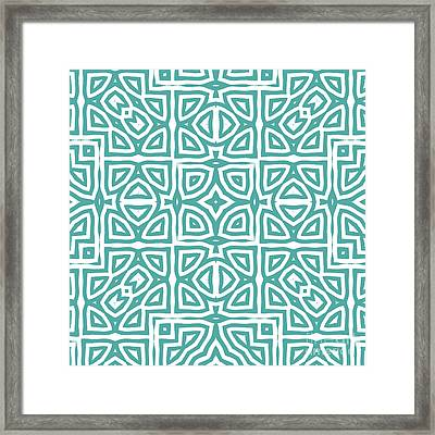 Alhambra Teal Framed Print by Mindy Sommers