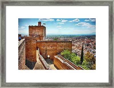 Alhambra Tower Framed Print