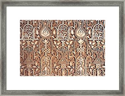 Alhambra Wall Section Framed Print