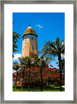 Alhambra Water Tower Framed Print by Ed Gleichman