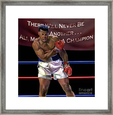 Ali - More Than A Champion Framed Print by Reggie Duffie