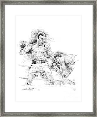 Ali And Frazier Framed Print by David Lloyd Glover