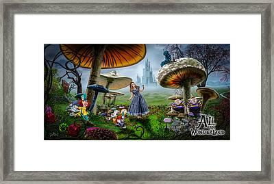 Ali In Wonderland Framed Print