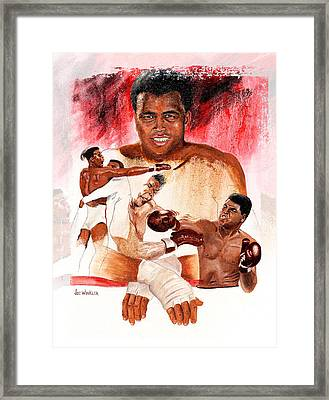 Framed Print featuring the painting Ali by Joe Winkler