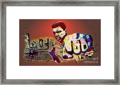 Ali The Greatest - Tribute Framed Print by Ian Gledhill