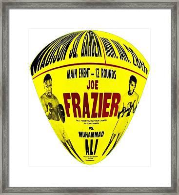 Ali Vs Frazier II Framed Print by Charlie Ross