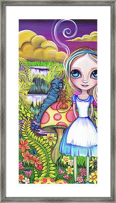 Alice And Absolem Framed Print