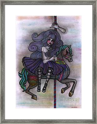 Alice And Merry-go-round Framed Print