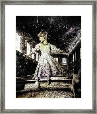 Alice And The Rabbit Framed Print by Bob Orsillo