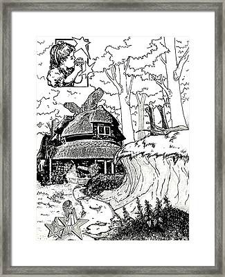 Alice At The March Hare's House Framed Print by Turtle Caps
